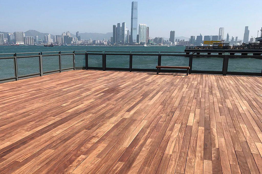 tarimas de exterior de madera natural maciza